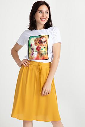 Basklı T-shirt