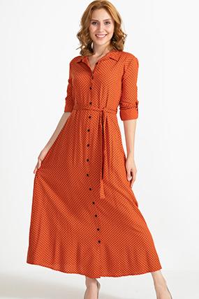 Bağcıklı Puantiyeli Uzun Elbise-41034632450