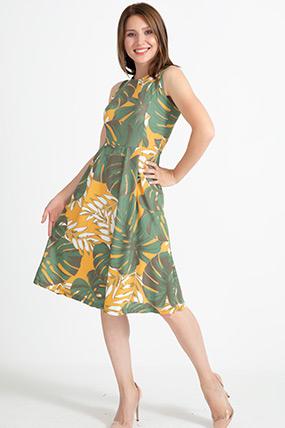 Sıfır Kol Midi Boy Elbise-41034803392
