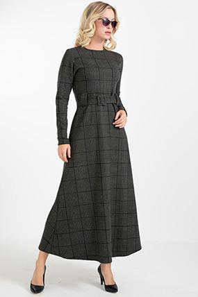 Kemerli Uzun Elbise-41034956247