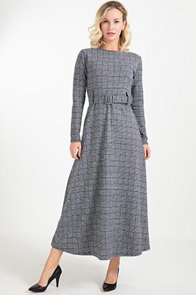 Kemerli Uzun Elbise-41034956284