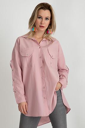 Kol Detaylı Düğmeli Gömlek