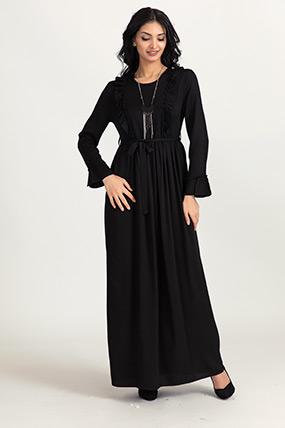 Ön Büzgülü Biyeli elbise