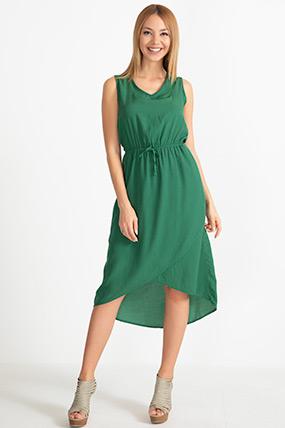 Sıfır Kol Asimetrik Elbise