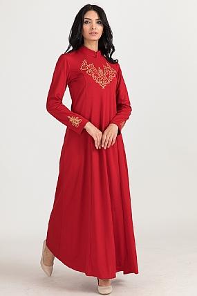 Hakim Yaka İşlemeli Elbise-5004341516