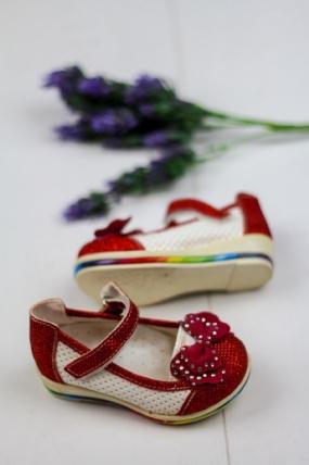 Zoze Kırmızı Beyaz Detaylı Çocuk Ayakkabı-43752
