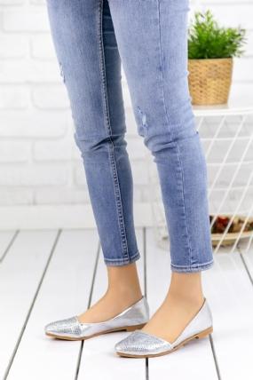 Diletta Gümüş Cilt Babet Ayakkabı-63570