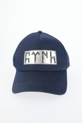 Lacivert Renk Göktürkçe Türk Yazı Tasarımlı Şapka
