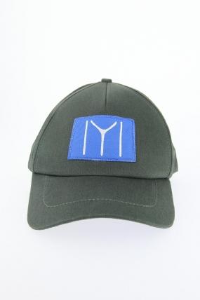 Haki Yeşili Renk Kayı Boyu Tasarımlı Şapka