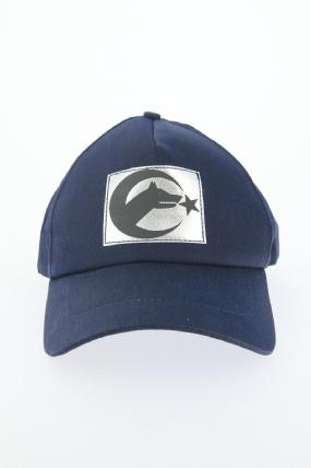 Lacivert Renk Bozkurt Tasarımlı Şapka