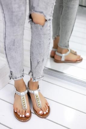 Alisha Gümüş Cilt Sandalet-57477