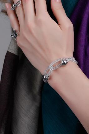 Transparan Model Gümüş Detaylı Bayan Bileklik-BB141