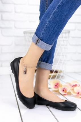Aryana Siyah Cilt Babet Ayakkabı-63328