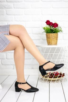 Sveva Siyah Cilt Topuklu Ayakkabı-48673