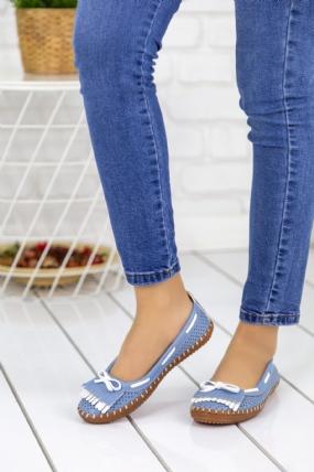 Palimia Bebe Mavisi Cilt Babet Ayakkabı-49775