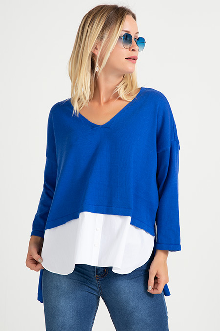 Gömlek Detaylı Bluz-41034947639