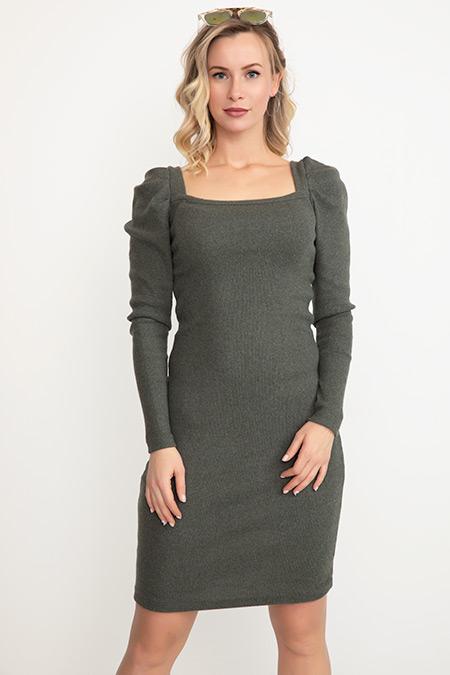 Kol Detaylı Kısa Elbise-41034985206