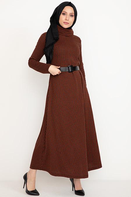 Kemerli Uzun Elbise-41034986413