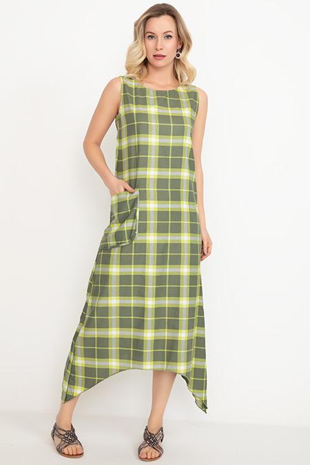 Sıfır Kol Cepli Elbise-41034991739