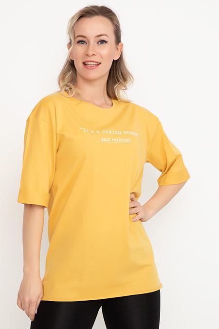 Baskılı T-Shirt-41035005700