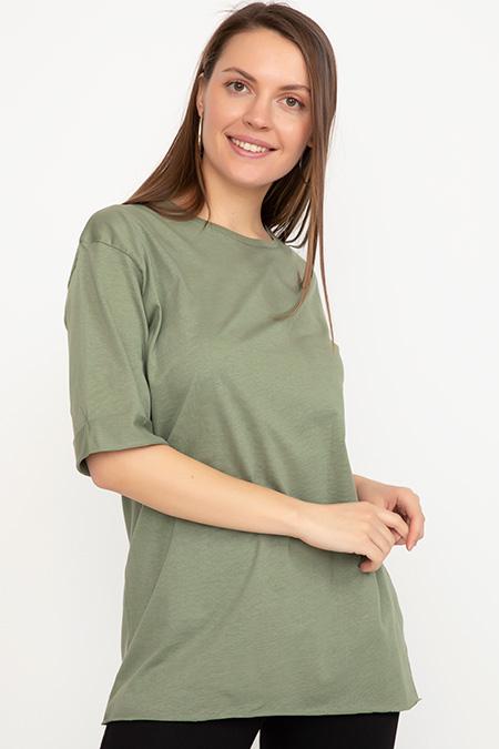 Sıfır Yaka T-Shirt-41035007188