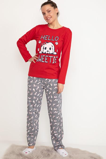Baskılı Pijama Takımı-41035034845