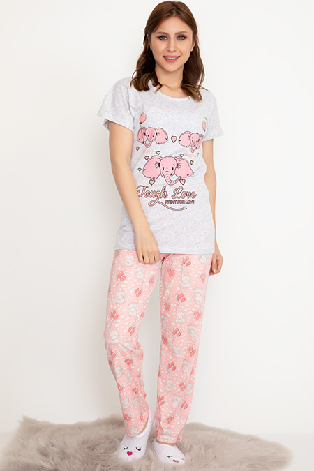 Kısa Kol Pijama Takımı-41035037158