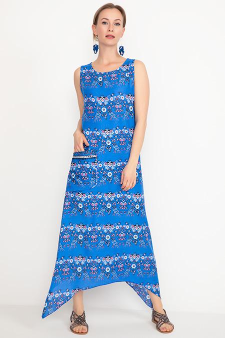 Desenli Cepli Elbise-41035039178