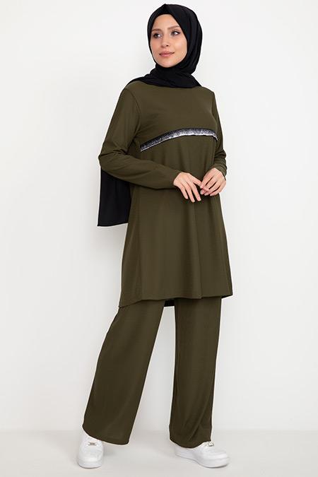 Sim Detaylı Tunik Takım-41035039913