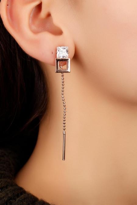 Metal Tasarım Bayan Küpe-BKP1299