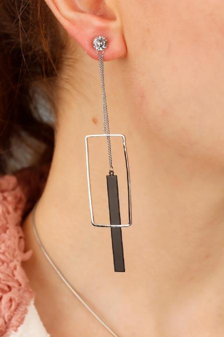 Metal Tasarım Bayan Sallantı Küpe-BKP1421