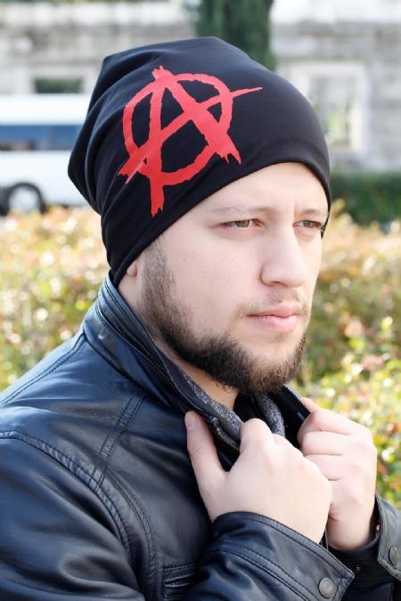 Kırmızı Siyah Renk Erkek Bere-EBR117