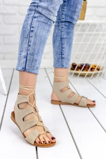 Kaiya Vizon Süet Sandalet-1081