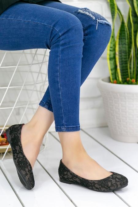 Aryana Siyah Babet Ayakkabı-1608