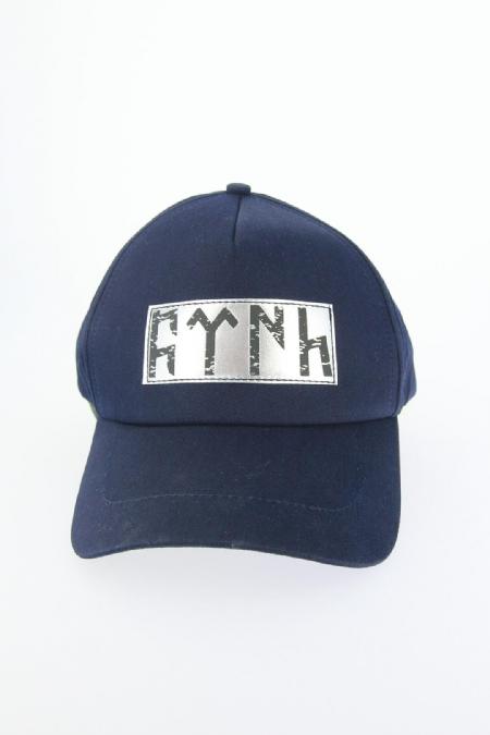 Lacivert Renk Göktürkçe Türk Yazı Tasarımlı Şapka-SPK102