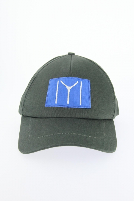 Haki Yeşili Renk Kayı Boyu Tasarımlı Şapka-SPK104