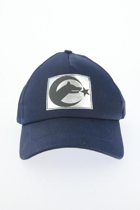 Lacivert Renk Bozkurt Tasarımlı Şapka-SPK105