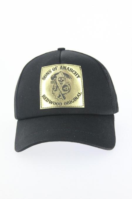 Siyah Renk Gold Danger Tasarımlı Şapka-SPK120