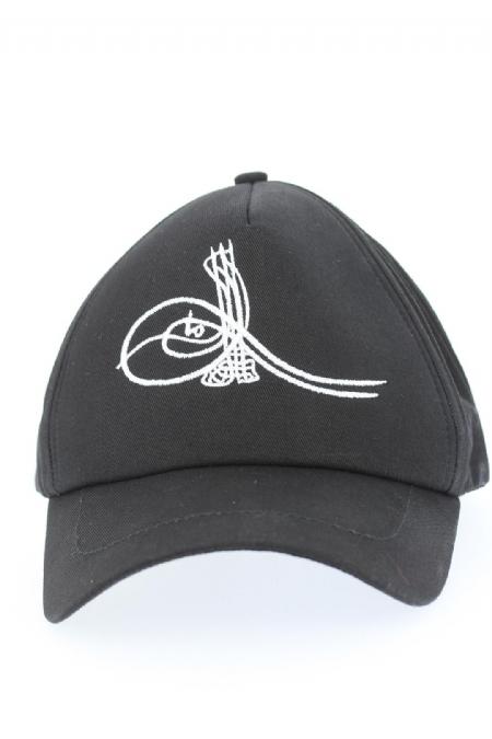 Siyah Renk Osmanlı Tuğralı Şapka-SPK155