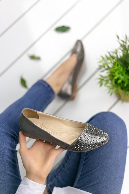 Benilde Füme Cilt Babet Ayakkabı-100