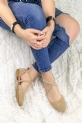 Gina Vizon Süet Babet Ayakkabı / Vizon