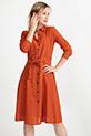 Bağcıklı Puantiyeli Elbise / Kiremit
