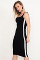 Askılı Kalem Elbise / Siyah
