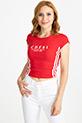 Baskılı T-Shirt / Kırmızı
