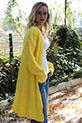 Kırçıllı Uzun Triko Hırka / Sarı