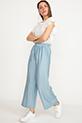 Bel Lastikli Geniş Pantolon / Mavi