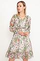 Bel Lastikli Şifon Elbise / Yeşil