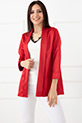 Kapri Kol Saten Ceket / Kırmızı