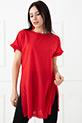 Kol Fırfır Detaylı T-Shirt / Kırmızı