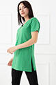 Yırtmaçlı V Yaka T-shirt / Benetton